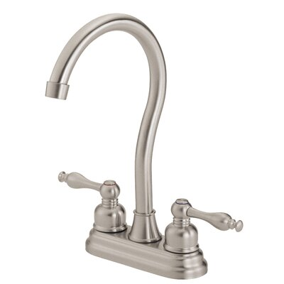 Sheridan Double Handle Deck Mounted Bar Faucet Finish: Stainless Steel