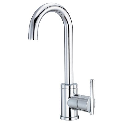Parma Single Handle Kitchen Faucet with Side Spray Finish: Chrome