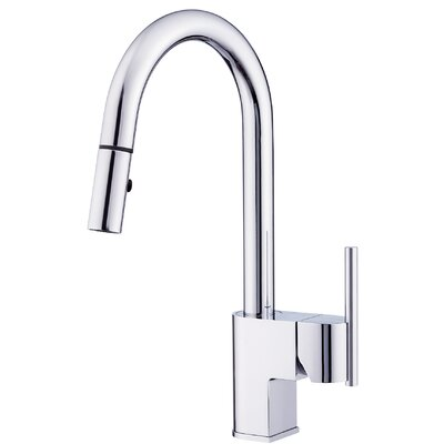 Como Single Handle Deck Mounted Kitchen Faucet Finish: Chrome