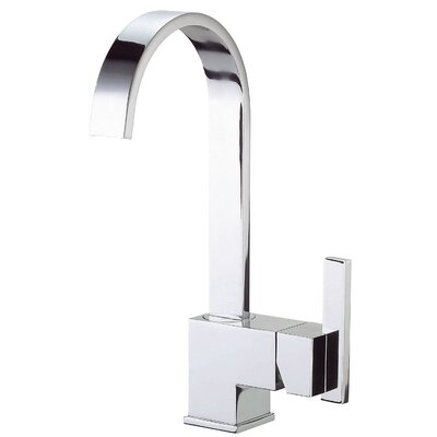 Sirius Single Handle Deck Mounted Bar Faucet with Fixed Spout Finish: Chrome