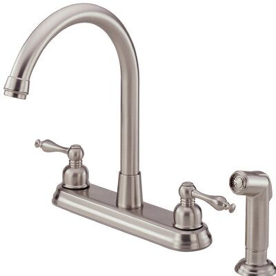 Sheridan Double Handle Kitchen Faucet with Side Spray Finish: Stainless Steel