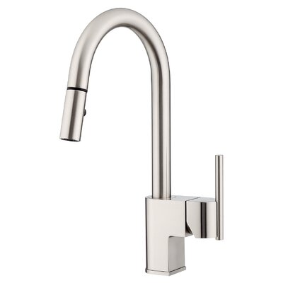 Como Single Handle Deck Mounted Kitchen Faucet Finish: Stainless Steel