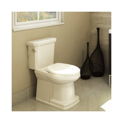 Cirtangular 1.6 GPF Elongated Two-Piece Toilet