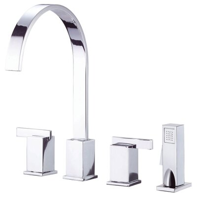 Sirius Double Handle Deck Mount Kitchen Faucet Finish: Chrome