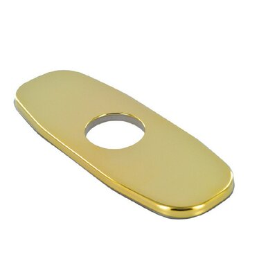 4 Accessories Centerset Cover Plate Finish: Polished Brass (PVD)