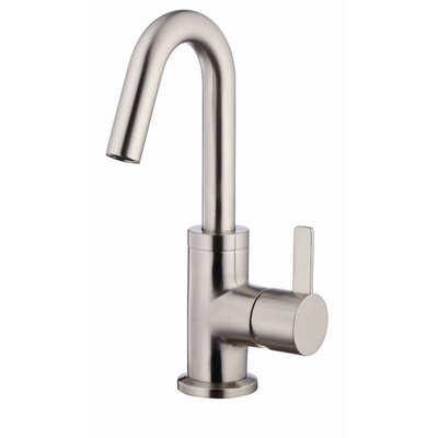 Amalfi Single Handle Single Hole Bathroom Faucet Finish: Brushed Nickel