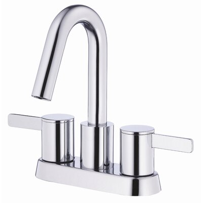 Amalfi Double Handle Centerset Bathroom Faucet Finish: Chrome