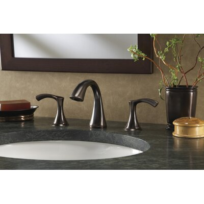 Antioch Double Handle Mini Widespread Bathroom Faucet Finish: Tumbled Bronze