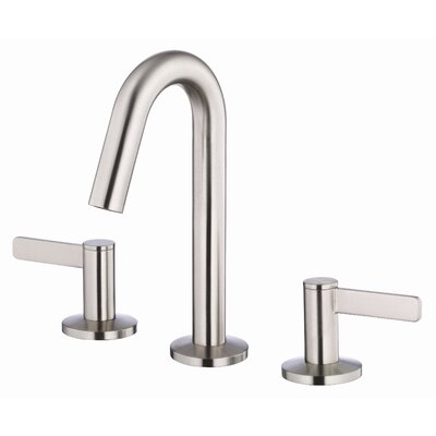 Amalfi Double Handle Mini Widespread Bathroom Faucet Finish: Brushed Nickel
