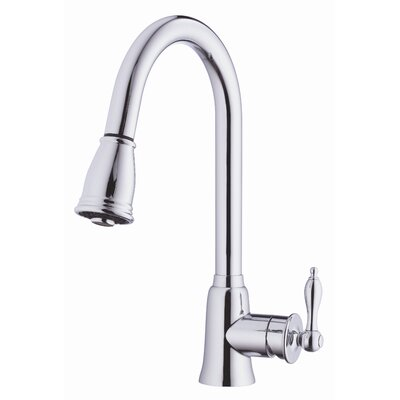Prince Single Handle Deck Mount Kitchen Faucet Finish: Chrome
