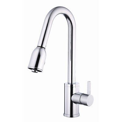 Amalfi Touchless Single Handle Kitchen Faucet with Side Spray Finish: Chrome