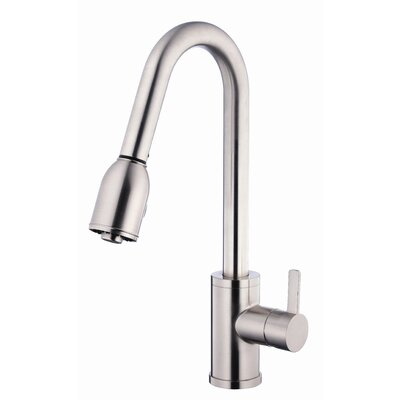 Amalfi Touchless Single Handle Kitchen Faucet with Side Spray Finish: Stainless Steel