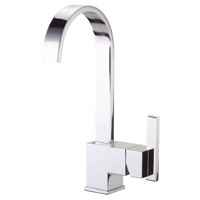 Sirius Single Handle Deck Mount Bar Faucet Finish: Chrome