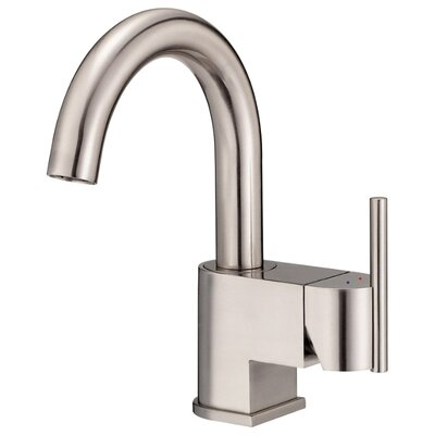 Como Single Handle Single Hole Bathroom Sink with Hot and Cold Markings Finish: Brushed Nickel