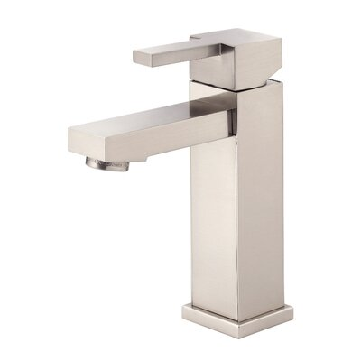 Reef Single Handle Single Hole Bathroom Faucet Finish: Brushed Nickel