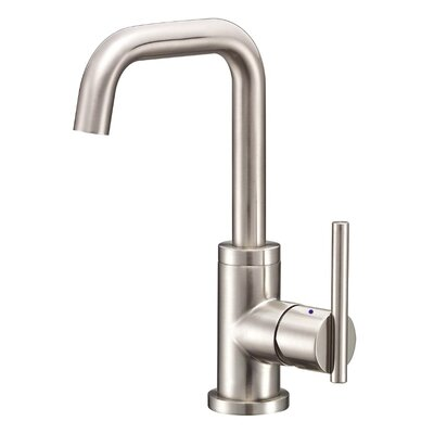 Parma Single Handle Single Hole Bathroom Faucet with Swivel Spout Finish: Brushed Nickel PVD