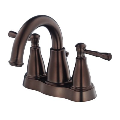 Eastham Double Handle Centerset Bathroom Faucet Finish: Tumbled Bronze