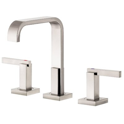 Sirius Double Handle Mini Widespread Bathroom Faucet Finish: Brushed Nickel PVD