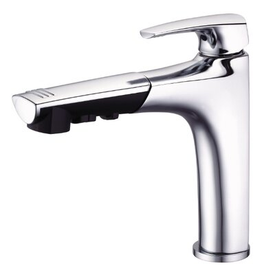 Taju Single Handle Deck Mount Kitchen Faucet Finish: Chrome