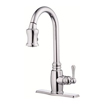 Opulence Single Handle Deck Mount Kitchen Faucet Finish: Chrome