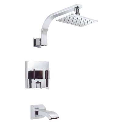 Sirius Diverter Tub and Shower Faucet Trim with Lever Handle Finish: Polished Chrome