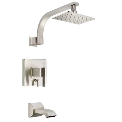 Sirius Diverter Tub and Shower Faucet Trim with Lever Handle Finish: Brushed Nickel