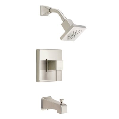 Reef Diverter Tub and Shower Faucet Trim with Lever Handle Finish: Brushed Nickel