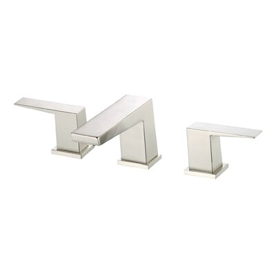 Mid-Town Double Handle Mini Widespread Bathroom Faucet with Touch Down Drain Finish: Brushed Nickel