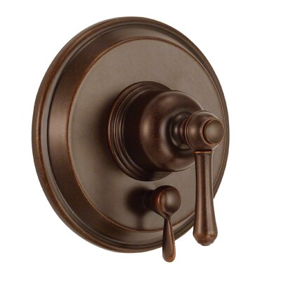 Opulence Pressure Balance Diverter Shower Faucet Trim Finish: Tumbled Bronze