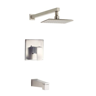 Mid-Town Volume Tub and Shower Faucet Trim with Lever Handle Finish: Brushed Nickel