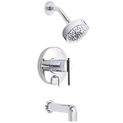 Parma Diverter Tub and Shower Faucet Trim with Lever Handle Finish: Polished Chrome