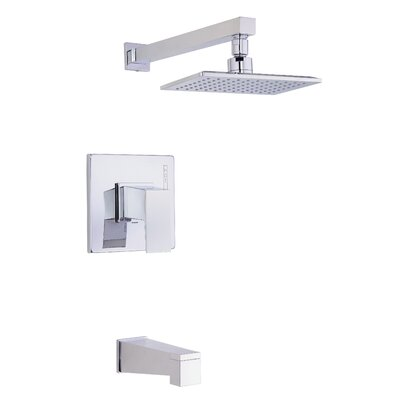 Mid-Town Volume Tub and Shower Faucet Trim with Lever Handle Finish: Polished Chrome