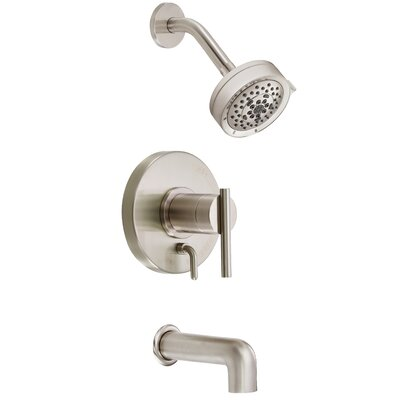Parma Diverter Tub and Shower Faucet Trim with Lever Handle Finish: Brushed Nickel