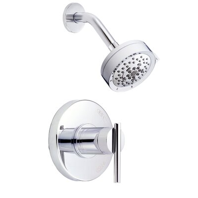 Parma Volume Multi Function Shower Faucet Trim with Lever Handle Finish: Polished Chrome