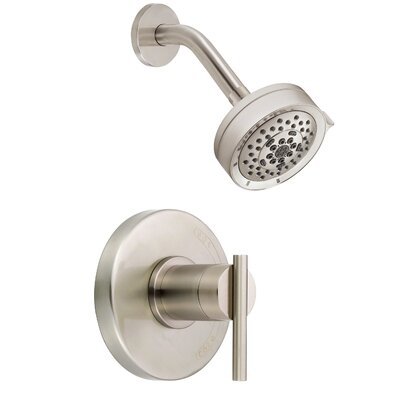 Parma Volume Multi Function Shower Faucet Trim with Lever Handle Finish: Brushed Nickel