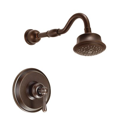 Opulence Volume Shower Faucet Trim with Lever Handle Finish: Tumbled Bronze
