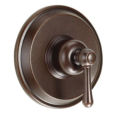 Opulence Pressure Balance Diverter Shower Faucet Trim with Level Handle Finish: Tumbled Bronze