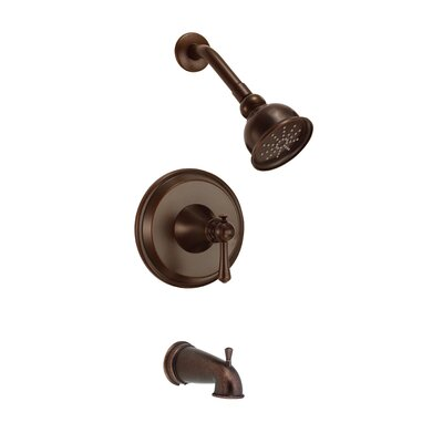 Cape Anne Volume Tub and Shower Faucet Trim with Lever Handle Finish: Tumbled Bronze