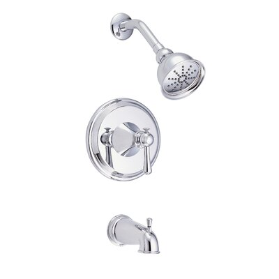 Cape Anne Volume Tub and Shower Faucet Trim with Lever Handle Finish: Polished Chrome