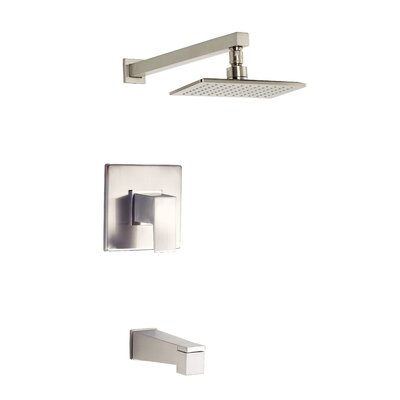 Mid-Town Tub and Shower Faucet Trim with Lever Handle Finish: Brushed Nickel