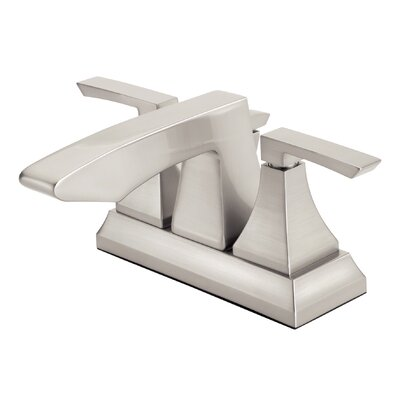 Logan Square Double Handle Centerset Bathroom Faucet Finish: Brushed Nickel