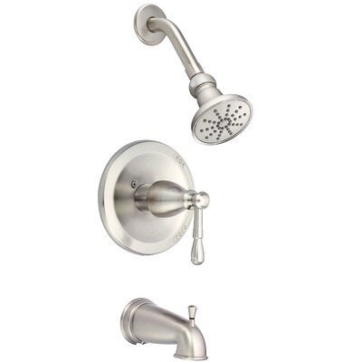 Eastham Volume Tub and Shower Faucet Trim Finish: Brushed Nickel