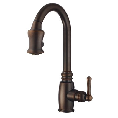 Opulence Pull Down Single Handle Kitchen Faucet Finish: Tumbled Bronze