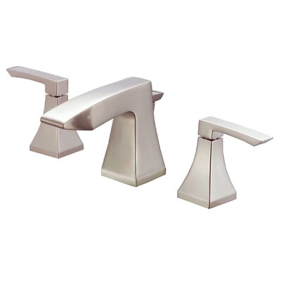 Logan Square Double Handle Widespread Bathroom Faucet with Pop-Up Drain Finish: Brushed Nickel