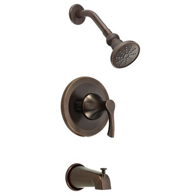 Antioch Diverter Pressure Balanced Tub and Shower Faucet Trim Finish: Tumbled Bronze