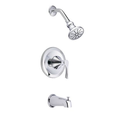 Antioch Diverter Pressure Balanced Tub and Shower Faucet Trim Finish: Polished Chrome