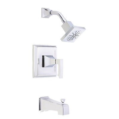 Logan Square Volume Fingle Function Tub and Shower Faucet Trim with Lever Handle Finish: Polished Chrome