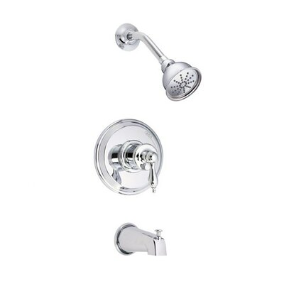 Prince Volume Pressure Balance Tub and Shower Faucet Trim with Lever Handle Finish: Polished Chrome