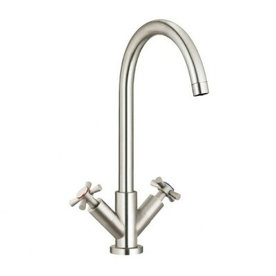 Parma Hot & Cold Water Dispenser with Swivel Spout Finish: Polished Chrome