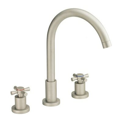 Parma Double Handle Mini Widespread Bathroom Faucet with Pop-Up Drain Finish: Brushed Nickel